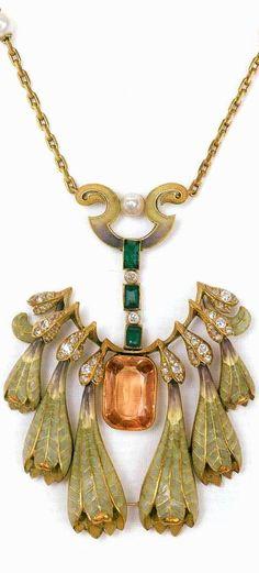 Philippe Wolfers, Art Nouveau necklace