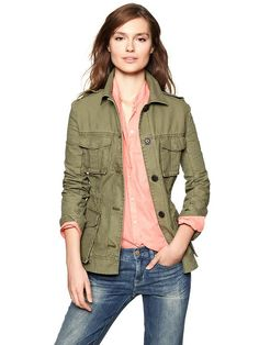 Gap Canvas Military Jacket inspired by #TheKardashians. Shop #DMLooks at DivaMall.tv