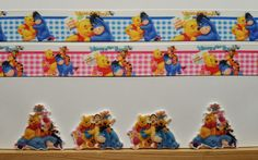 2 Yards 4 Resin Mixed lot Winnie the Pooh  Inspired Ribbon and Resins #Unbranded