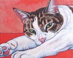 8  x 10  personnalisé animal Portrait peinture par bethanysalisbury