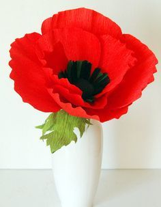 "How to DIY Simply Pretty Paper Poppy Flower ""No matter how simple paper poppy flower was very impressed. These poppy paper flowers will live with time. Let's make some decorate for our home. What..."