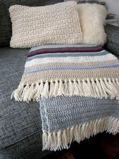 Boho Blanket/ throw crochet handmade by Franellie