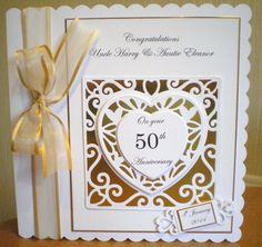 50th Golden Anniversary card using Tonic dies - Fab!
