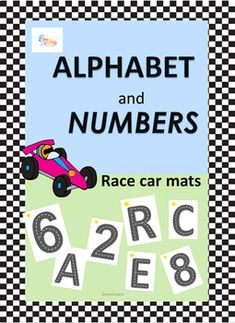 Teach letters and numbers formation and identification with these race car mats. Teaching Schools, Elementary Schools, Teaching Ideas, Uppercase And Lowercase Letters, Alphabet And Numbers, Alphabet Games, Teaching Letters, Car Mats, Literacy Centers