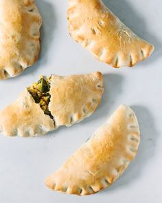 Roasted Poblano and Corn Calzones
