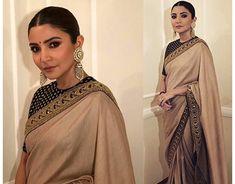 Bollywood Saree, Bollywood Fashion, Pakistani Outfits, Indian Outfits, Indian Designer Outfits, Designer Dresses, Designer Sarees, Sari Blouse Designs, Blouse Patterns