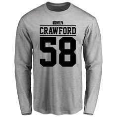 Jack Crawford Player Issued Long Sleeve T-Shirt - Ash