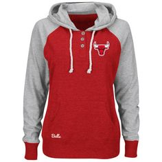 58420a686178 Chicago Bulls Majestic Women s Overtime Madness Pullover Hoodie - Red