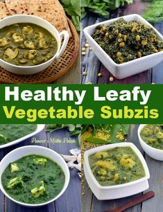 Healthy Subzi with Leafy Vegetables Recipes : Tarla Dalal Indian Vegetable Recipes, Healthy Vegetable Recipes, Healthy Vegetables, Healthy Breakfast Recipes, Indian Food Recipes, Healthy Food, Vegetarian Lunch, Vegetarian Recipes, Cooking Recipes