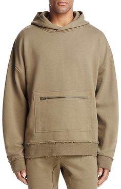 The Narrows Raw-Edged Hooded Sweatshirt - Exclusive Men - Bloomingdale's Hoodie Outfit, Hoodie Jacket, Mens Sweatshirts, Hoodies, Casual Wear For Men, Junior Fashion, Sport Outfits, Shirt Style, Menswear