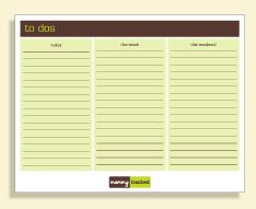 free printable family organizers, calenders, to-do lists and such