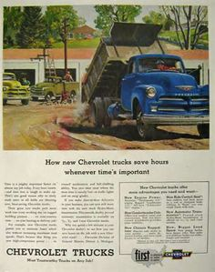1954 Chevy Truck Ad ~ Peter Helck