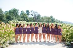 Bridal party outside Pippin Hill in floral rompers