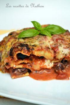 Ma cuisine au fil de mes idées...: Lasagne à la feta et aux olives noires… Saveur, Feta, Ethnic Recipes, Dinner, Real Simple, Sun, Food, Kitchens, Lasagna