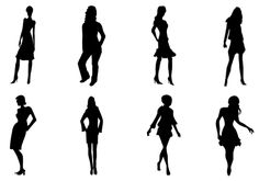 Women Silhouette Vector ere comes with EPS/PNG/JPEG files ideal to design people vector illustrations. Formal wear, casuals and party wears added to this woman vector silhouette.