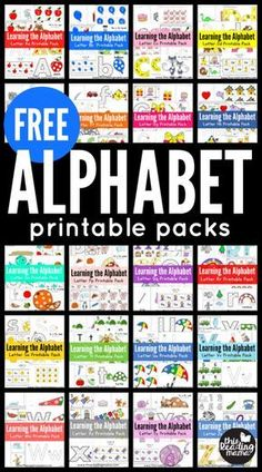 FREE Learning Packs for Preschool and Kindergarten - Vorschule und Schule Free Preschool, Preschool Printables, Preschool Lessons, Preschool Kindergarten, Preschool Learning, Teaching Kids, Abc Printable, Free Alphabet Printables, Teaching Resources