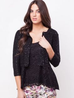 VERO MODA Sequinned Zipper Cardigan buy from koovs.com | cardigan ...