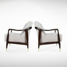 Pair of Sculptural Italian Lounge Chairs | From a unique collection of antique and modern lounge chairs at www.1stdibs.com/...