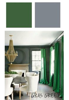 Emerald green is the new grey for interiors refinery29 - Grey and emerald green living room ...
