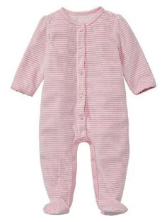 SIMILAR Baby Gap Favorite striped velour one-piece (snaps go down the side and has the bear logo in the upper left corner