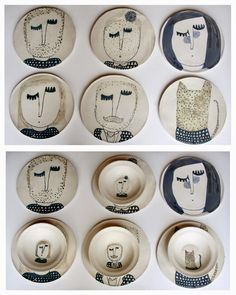 56 creative DIY tableware ideas - Page 6 of 56 - SooPush chic tableware, creative DIY tableware, vintage plates. Diy Tableware, Ceramic Tableware, Ceramic Clay, Pottery Painting, Ceramic Painting, Pottery Plates, Ceramic Pottery, Cerámica Ideas, Clay Plates