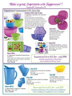 September 9-13th, 2013 Specials! www.my.tupperware.com/candykay
