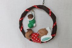"Vintage Hallmark 1987 ""Tree top dreams"" Christmas ornament,Hallmark Christmas ornament,Annual Hallmark ornament,"