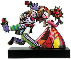 "Romero Britto: Porzellanskulptur ""Follow Me"""