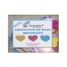 ✭ Confettis de bain moussant cœur - Boite de 12gr ✭
