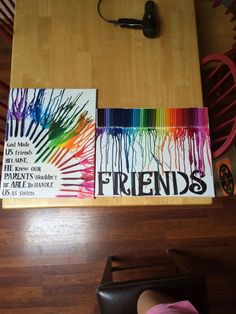 Crayon Wall - DIY Gift for Best Friend