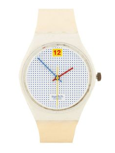 My first Swatch watch. Vintage Swatch Dotted Swiss Watch