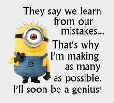 We have 17 minion quotes for all those who enjoy humor from time to time. Minions embody everything that is cool. So you will def love these minion quotes. Check them out! Humor Minion, Funny Minion Memes, Minions Quotes, Funny Jokes, Funny Sayings, Funniest Memes, Despicable Me Quotes, Cute Minion Quotes, Minion Sayings