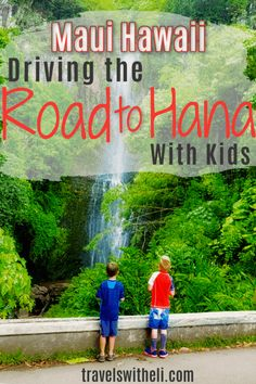 The Ultimate Guide to Maui's Road to Hana Stops. The best banana bread, waterfalls, black sand beaches, and how to drive the Road to Hana with kids. Hawaii Vacation Tips, Hawaii Travel Guide, Trip To Maui, Hawaii Honeymoon, Family Vacation Destinations, Beach Trip, Beach Vacations, Maui Hawaii, Beach Travel