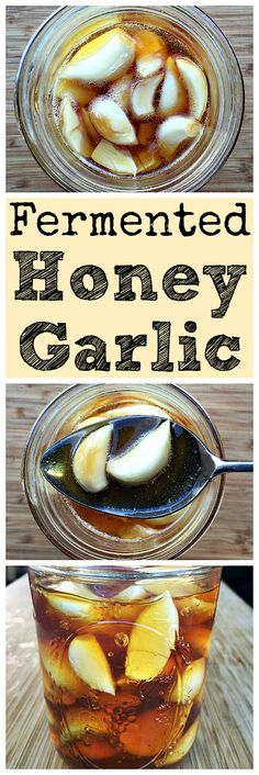 Make this fermented honey garlic for an immune boosting and tasty treat!: