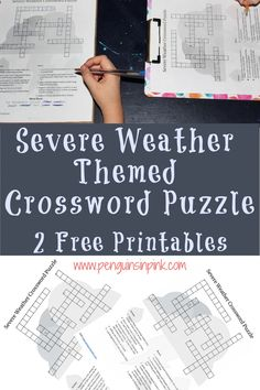This FREE Printable Severe Weather Themed Crossword Puzzle is an easy way to help kids review their weather knowledge or learn something new weather. An answer key is also included. Severe Weather, Free Printable Crossword Puzzles, Free Printables, Science Resources, Help Kids, Kids Education, Book Lists, Penguins, Penguin