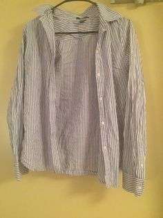 1a0a5c0e5c6ba CHAPS Women s sz. XL Blue White Striped Button-Down Shirt EUC  fashion   clothing  shoes  accessories  womensclothing  tops (ebay link)