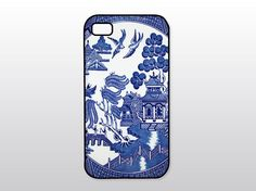 Blue Willow iPhone Case Vintage Blue Willow by GoldenDaysDesigns, $15.00