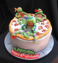 Ninja Turtle Cake from Layers of Confection in Hudson, FL http://www.layersofconfection.com
