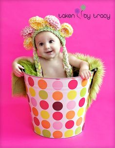 Baby Flower Hat ready to ship photography prop SALE by mandag433, $15.00