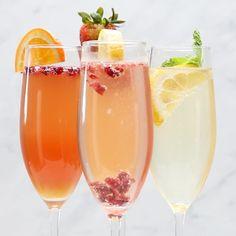 Featuring Mint Tea Lemonade Mimosa, Orange Pomegranate Mimosa, Cranberry Lemon Mimosa and Strawberry Mango Mimosa