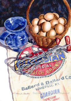Marsha Chandler: Recent Paintings, Still lifes, fruits, veggies and country scenes