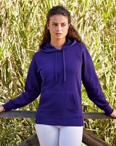 62148 Fruit Of The Loom Lady-Fit Lightweight Hooded Sweat Discounted price until the end of March 2015 just £6.34