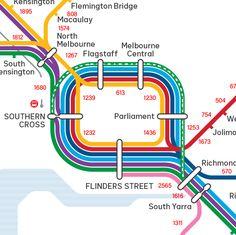 Distances between Melbourne railway stations – a quick map Underground Tube, Subway Map, U Bahn, Cartography, Public Transport, Leeds, Map Art, Planer, Infographics