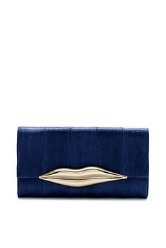 DVF | The Carolina Lips Clutch is so DVF, updated for the season in exotic snakeskin.  http://on.dvf.com/198b4P6