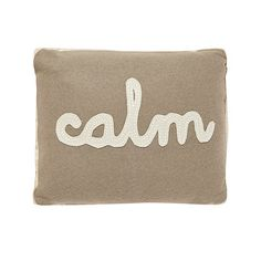 Debenhams Cream 'Calm' cushion- at Debenhams.ie