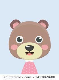Bear Print, Cute Bears, Hello Kitty, Image