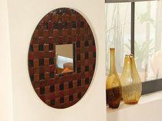 Moldura de Espelho Feita com Jornal - -DIY - Faça você mesmo - Reciclagem de Papel