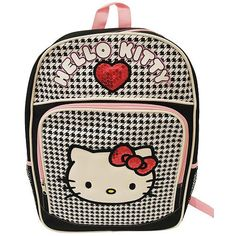 Hello Kitty Backpack  Black  White Checkerboard with Sequin Heart * This is an Amazon Affiliate link. Find out more about the great product at the image link.