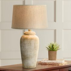 37 Popular Living Room Table Lamps To Beautify Your Interior Decor - When you are decorating your home the kind of table lamps lighting that you choose to accompany the furnishings and other accessories will have a grea. Rustic Lighting, Home Lighting, Facade Lighting, Lighting Design, Stone Lamp, Rustic Table Lamps, Wood Table, Unique Lamps, Cool House Designs