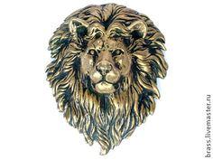 """накладка """"лев"""" - лев,накладка,золотой,на дверь,животные,украшения,красивый"""